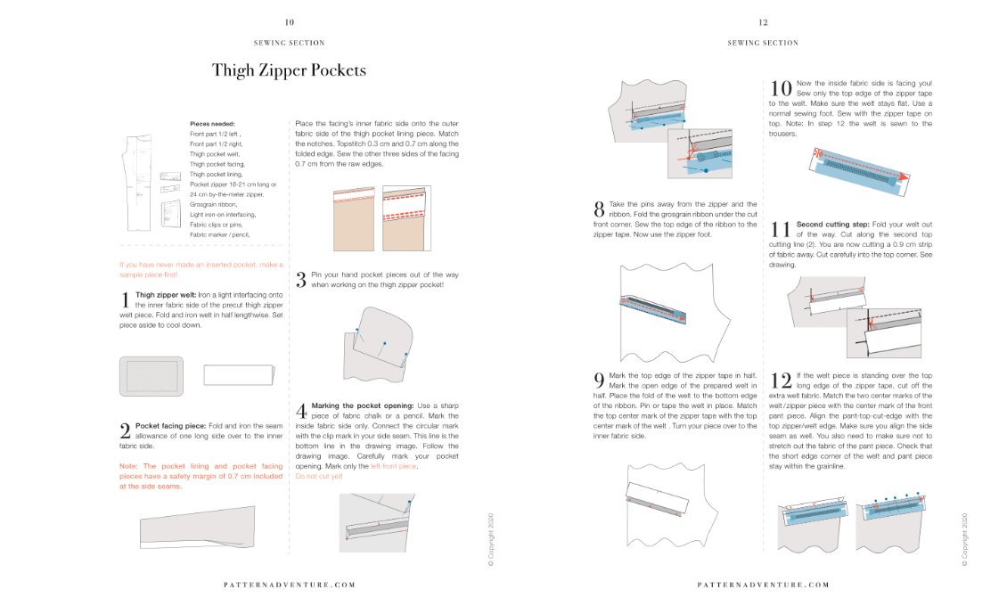 Zipper Pocket Sewing Instructions