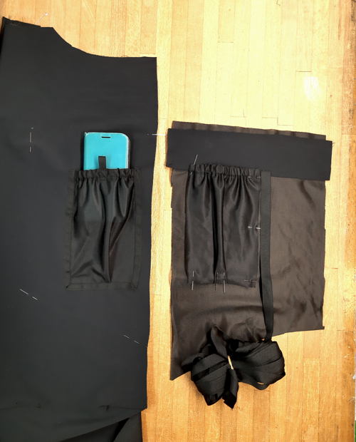 Inside sleeve pocket