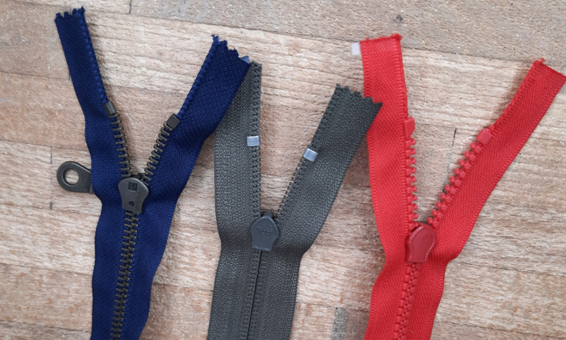Reverse look of Metal Coil Tooth zippers