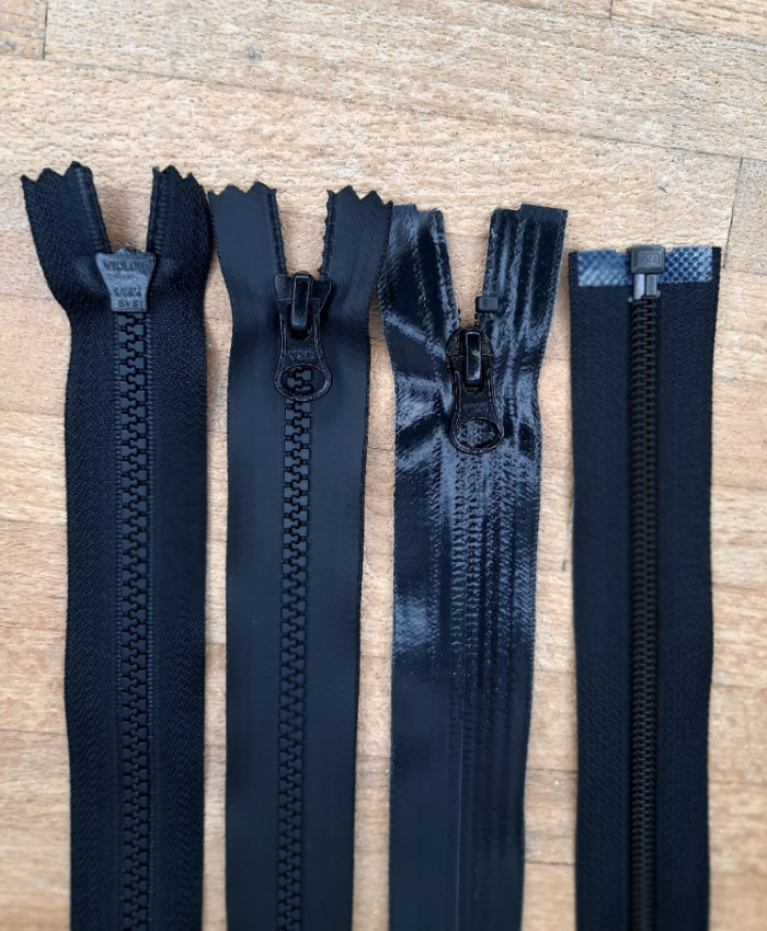 Water repellent Tooth & Coil zippers